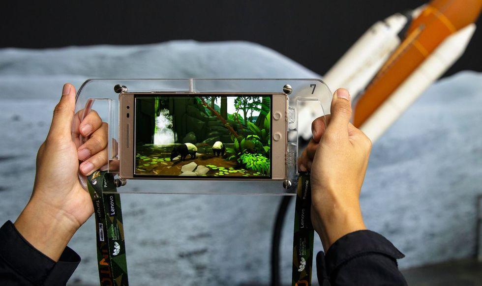 Utforska regnskog i augmented reality