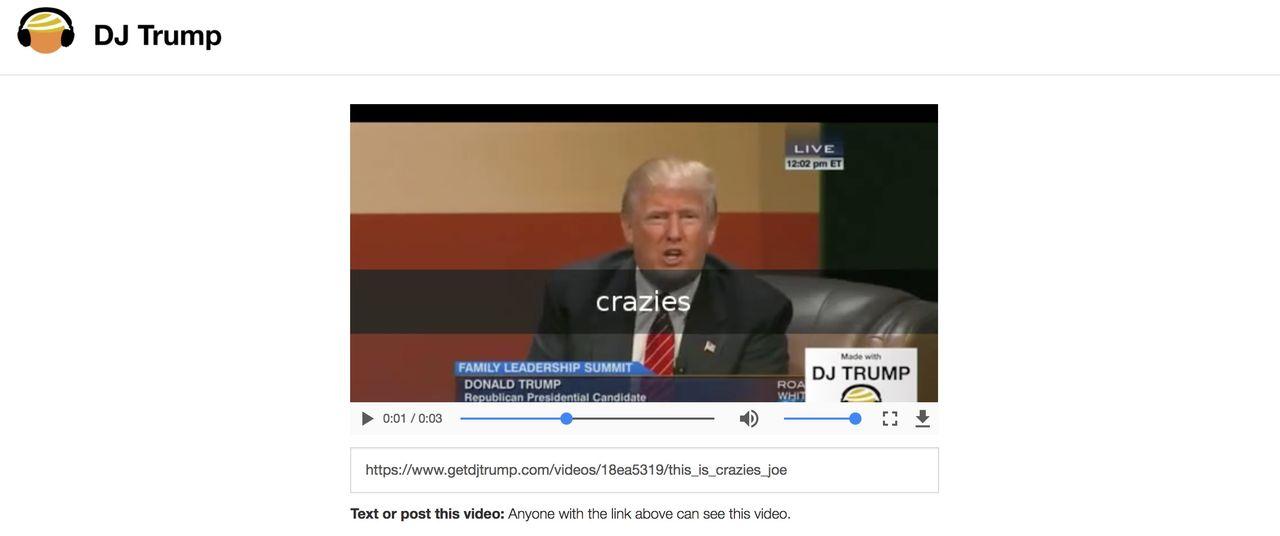 Lek med DJ Trump
