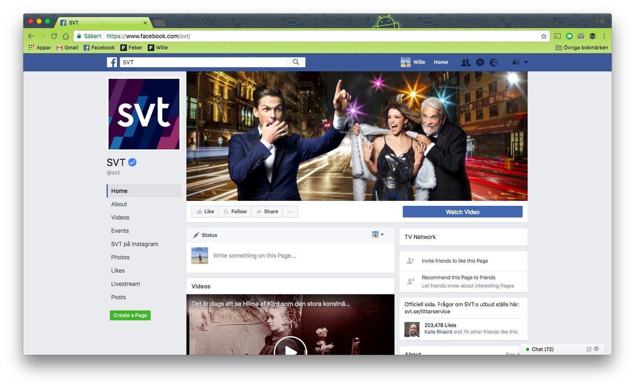 SVT:s närvaro på Facebook snedvrider konkurrensen