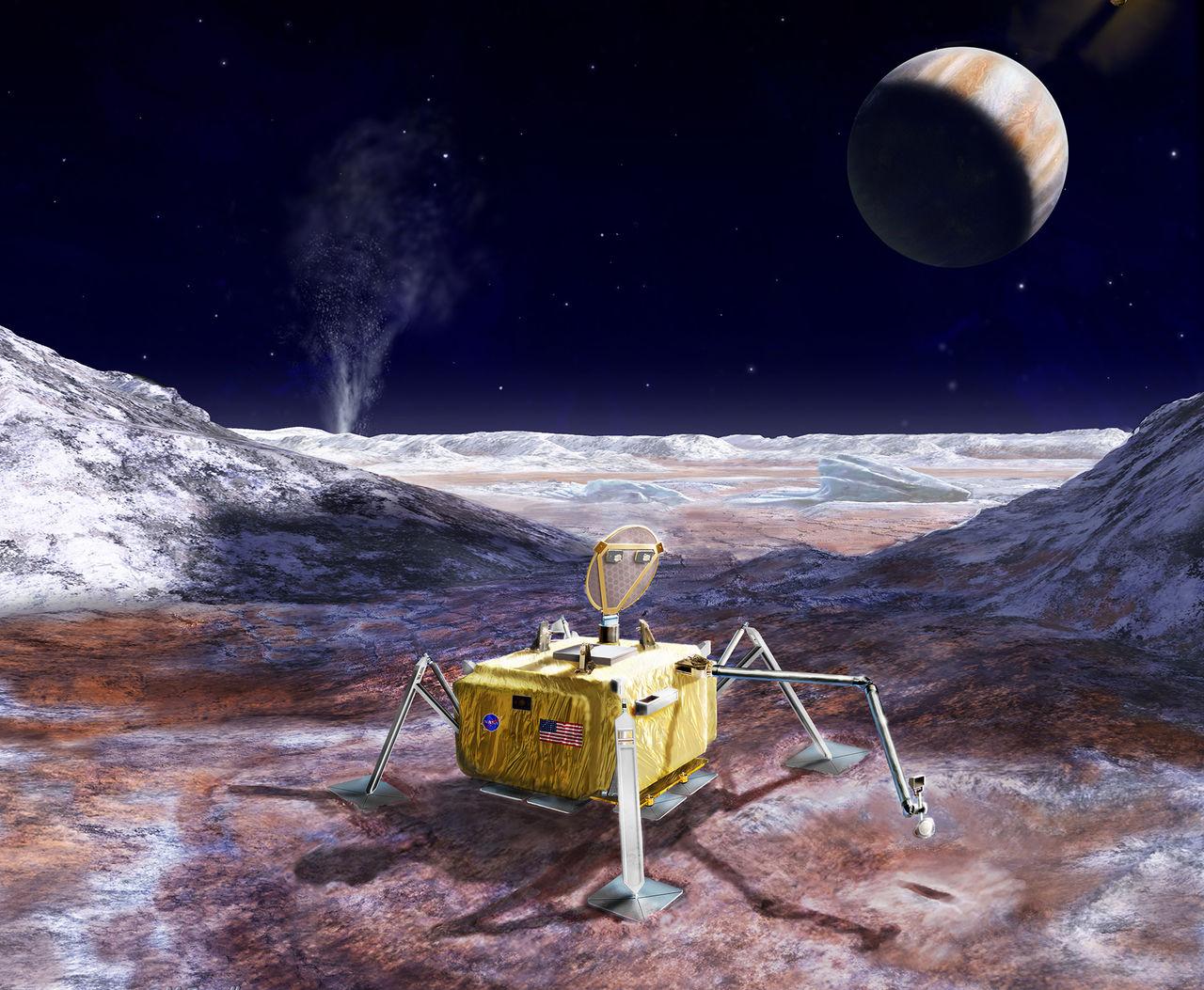 NASA vill skicka rymdfarkost till Europa