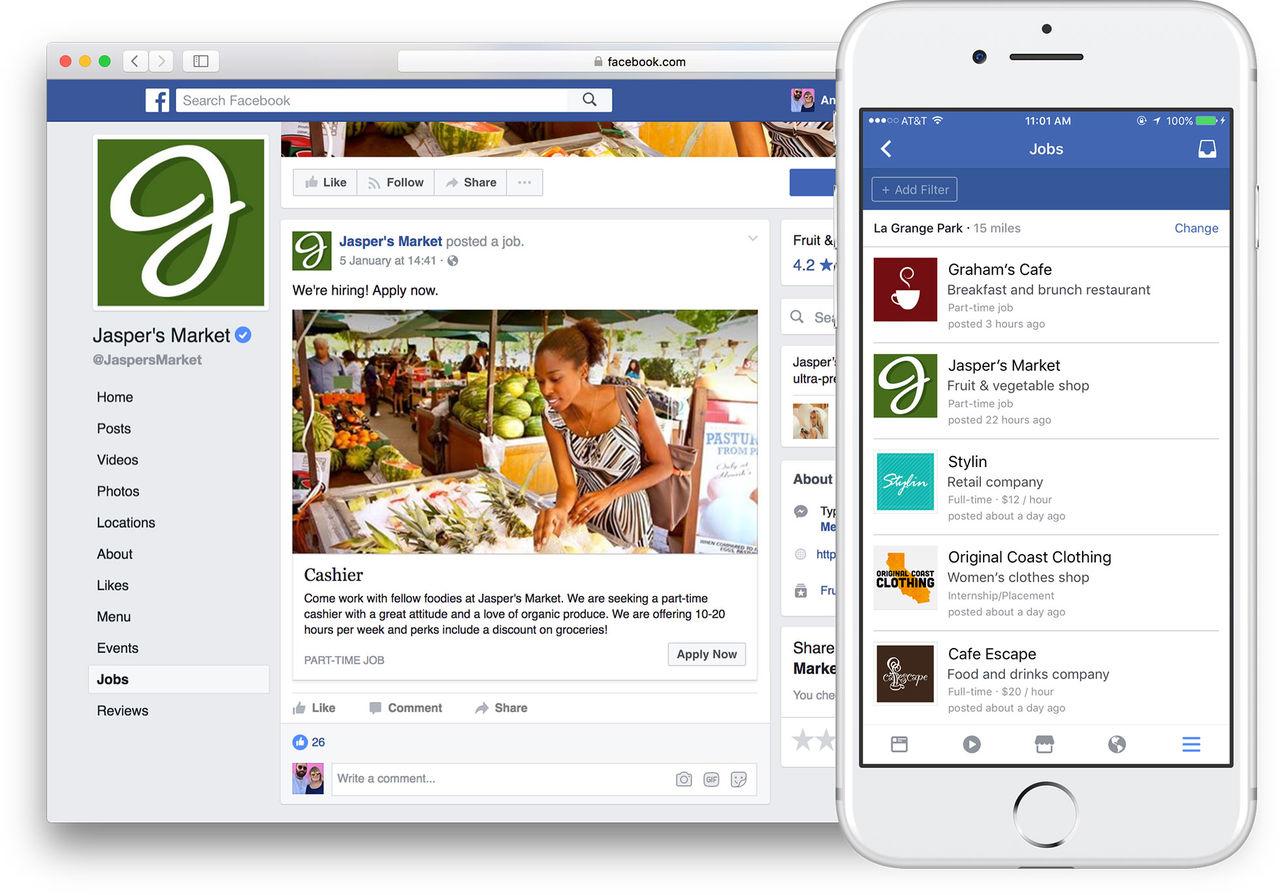 Snart kan du söka jobb på Facebook