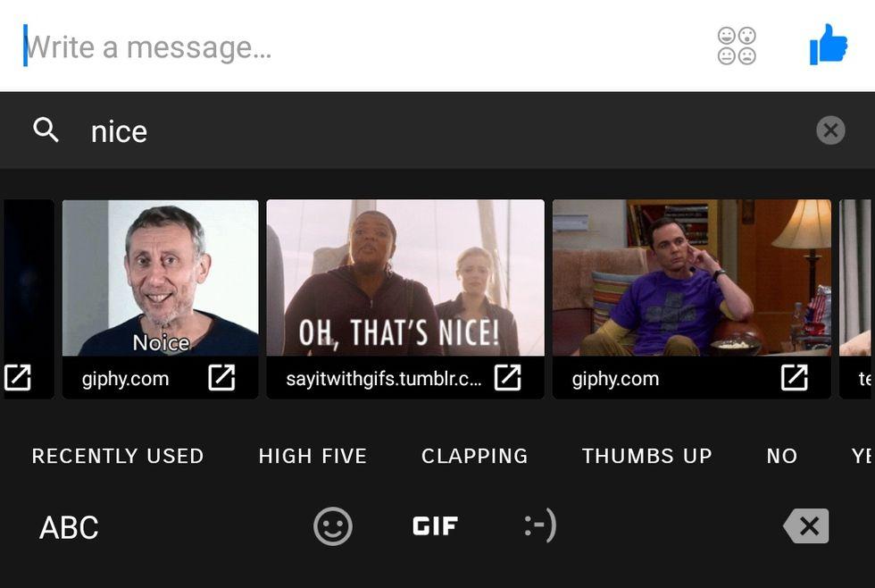 Nu kan du slänga in gifar från Gboard i Facebook Messenger