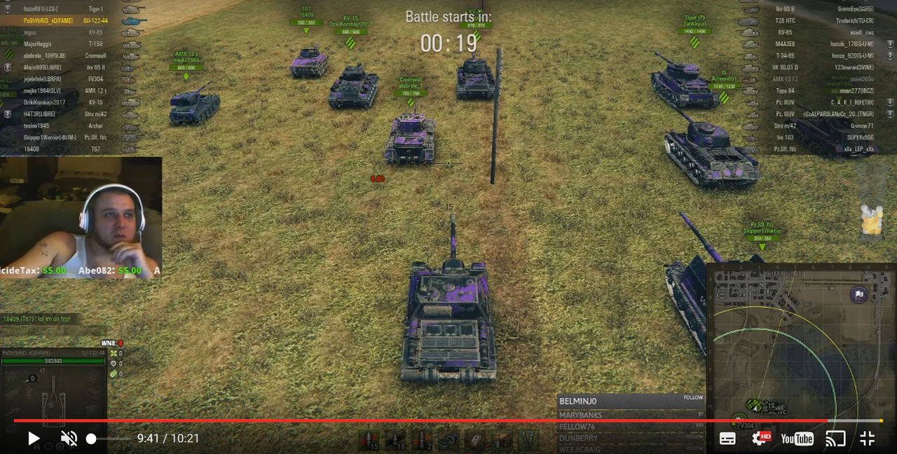 World of Tanks-spelare dog under livesändning på Twitch