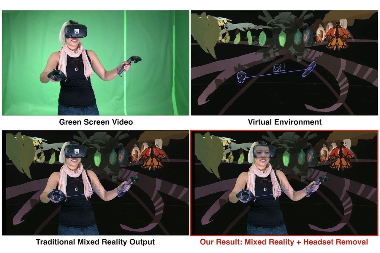 Google visar användares ansikten genom VR-headset