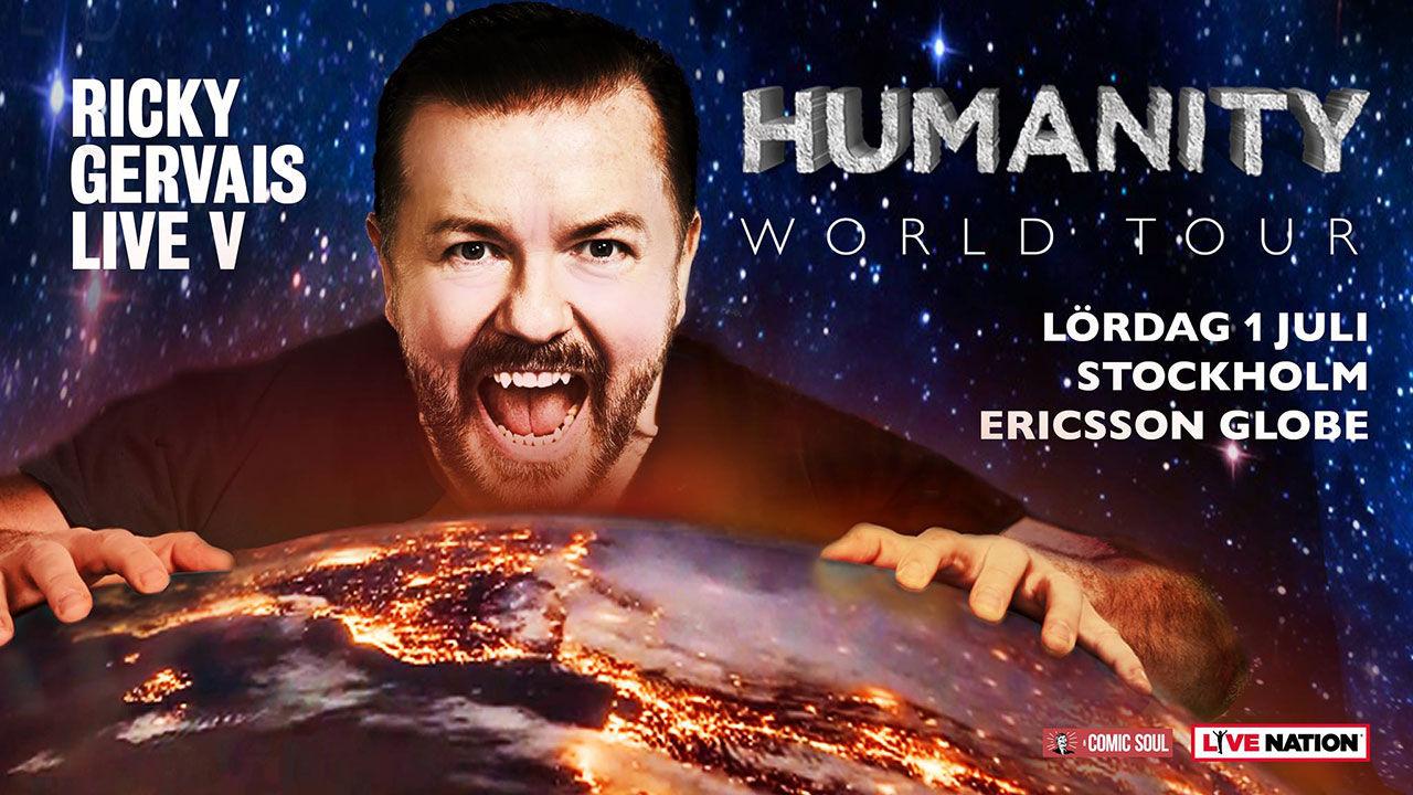 Ricky Gervais kör show i Sverige