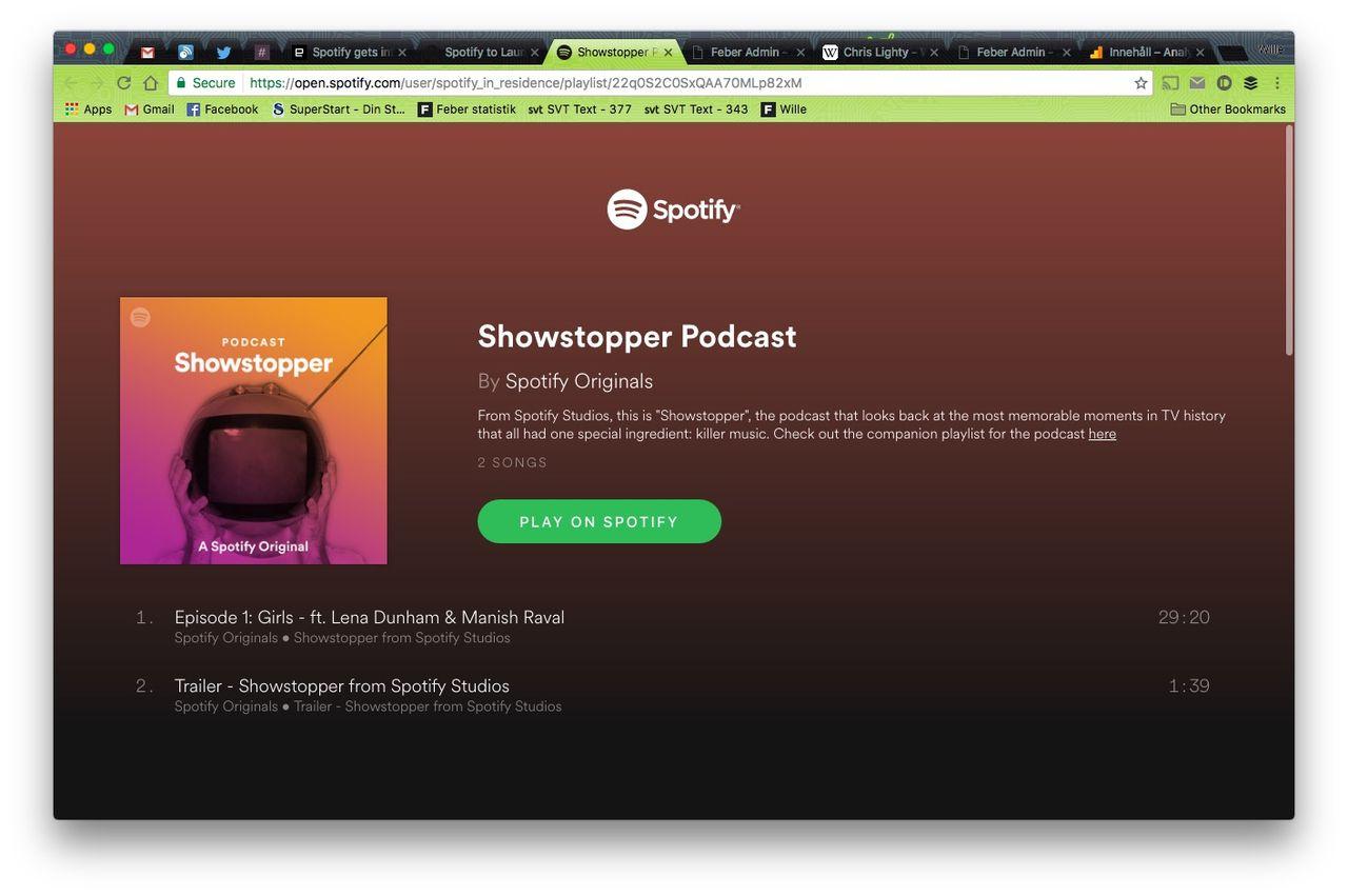 Spotify börjar göra egna podcasts