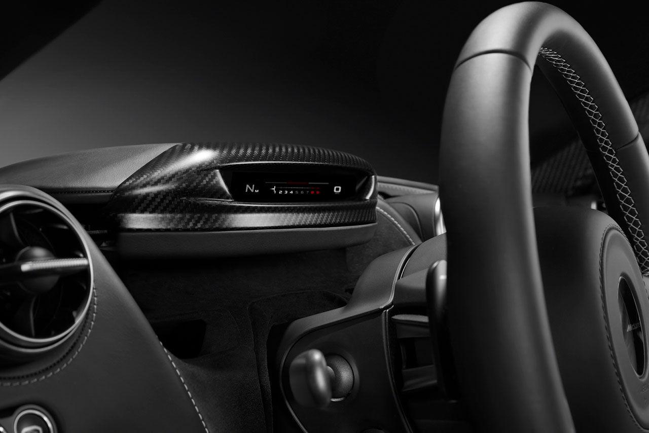 Instrumenthuset i McLarens nya går att fälla