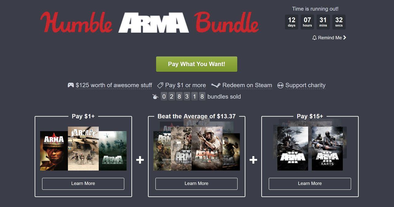 Betala vad du vill för ett gäng Arma-spel