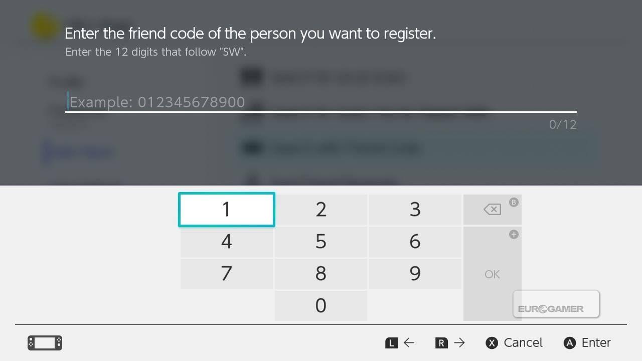 Friend codes återvänder i Switch