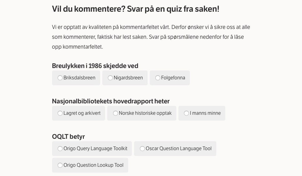 Norska NRK har en fiffig lösning för att slippa trollkommentarer