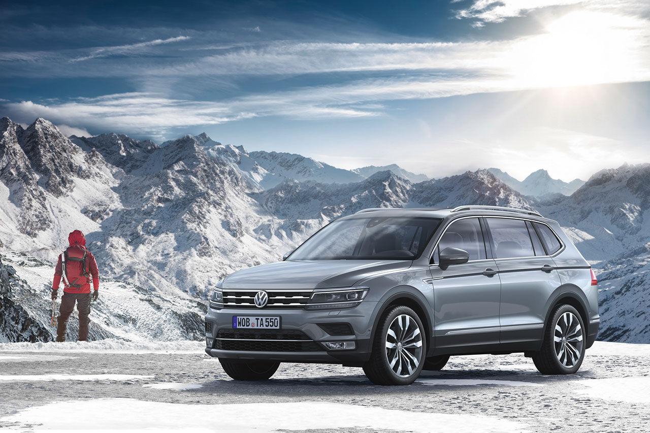 Sjusitsiga Volkswagen Tiguan Allspace visas upp
