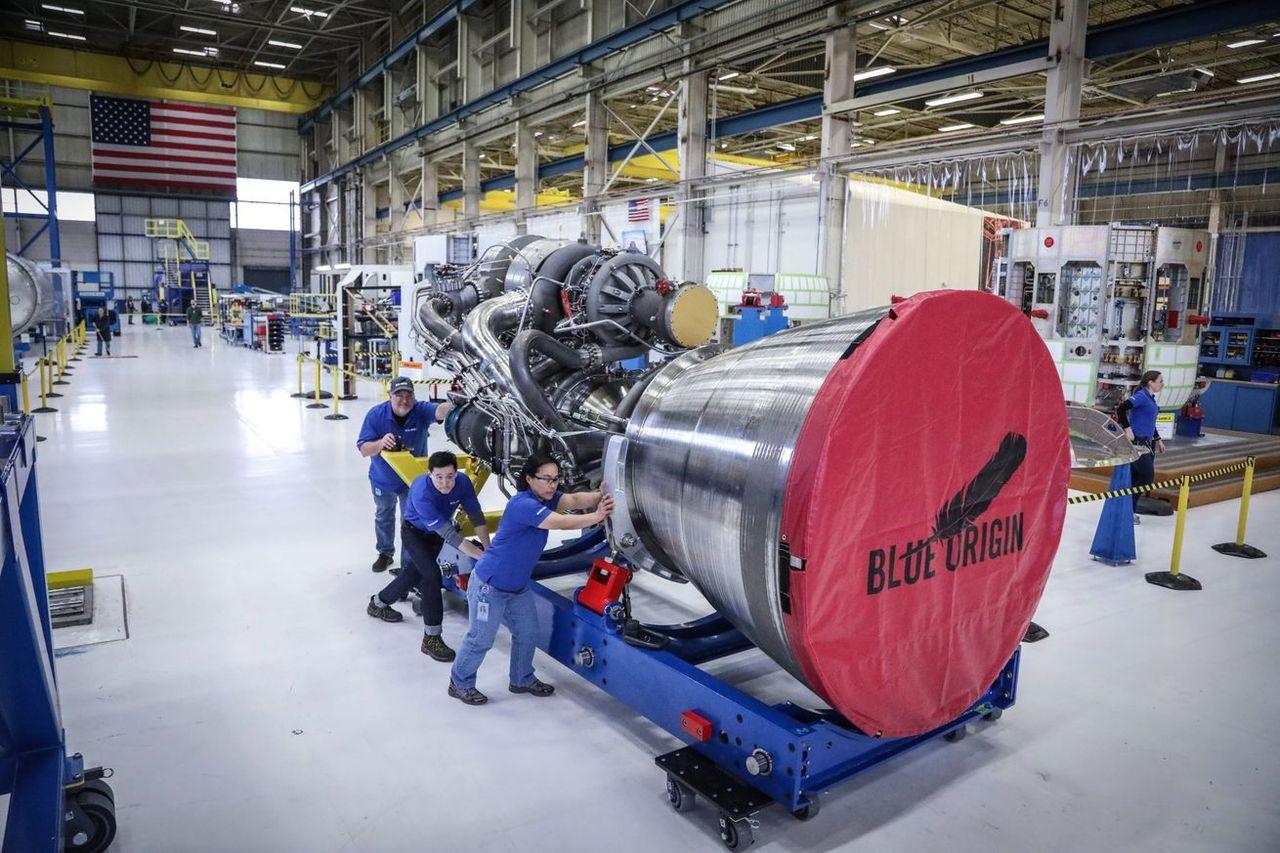 Spana in Blue Origins nya raketmotor