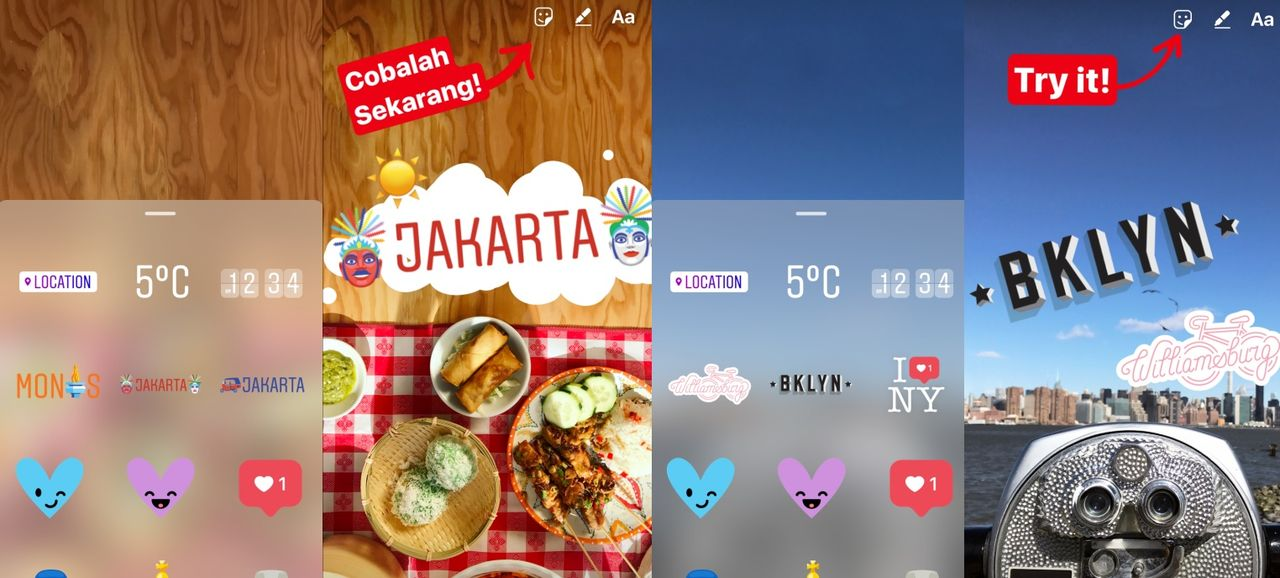 Instagram får geostickers