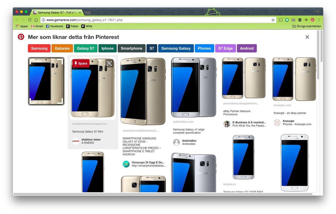 Hitta liknande prylar med Pinterest nya plugin