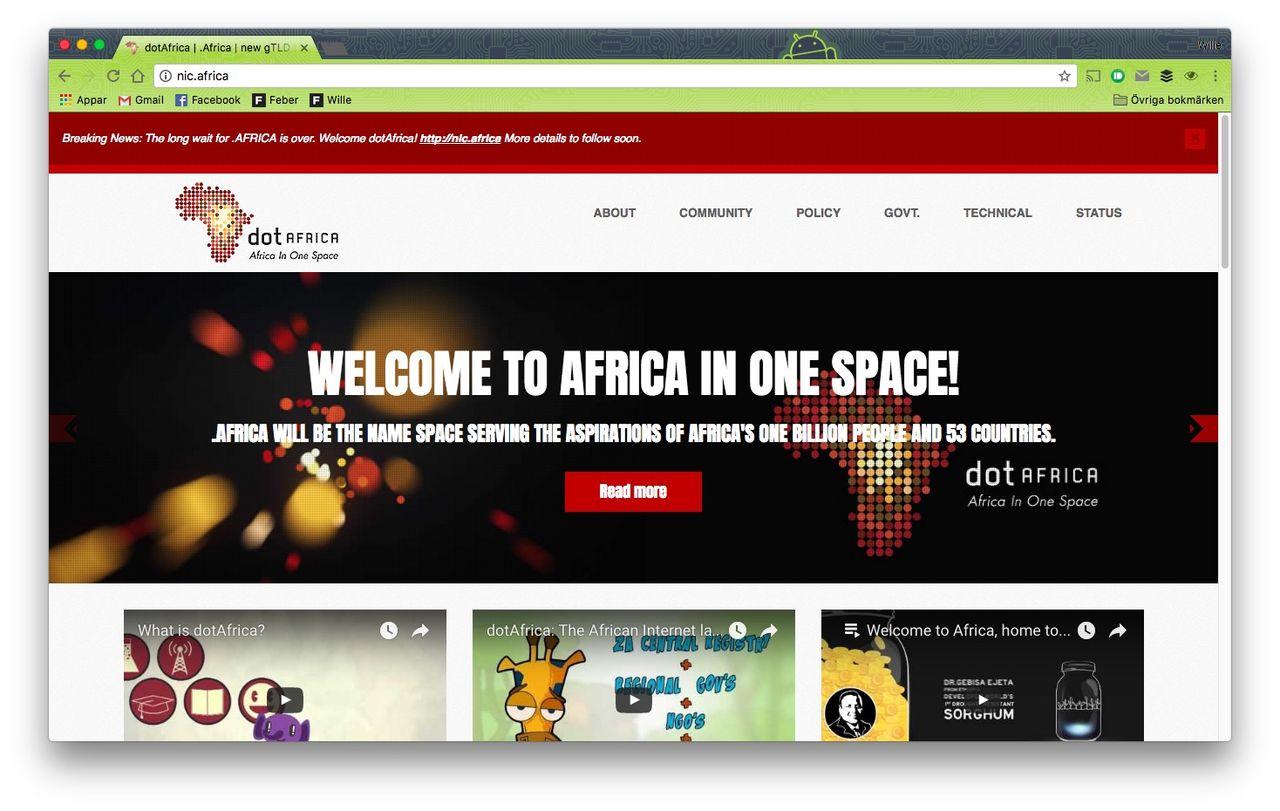 Afrika får en egen toppdomän på nätet