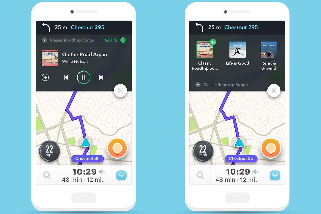 Waze implementerar Spotify-kontroller i sin app
