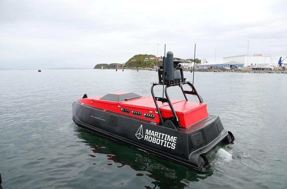 Norge testar drönarbåtar i Trondheims fjord