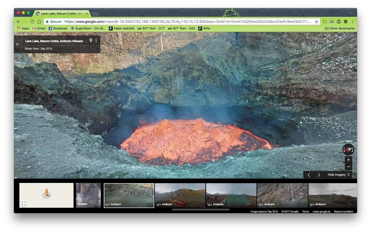 Kolla in en vulkan på Google Maps Street View