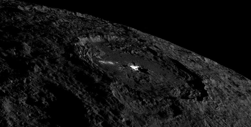 Det finns isvulkaner på Ceres