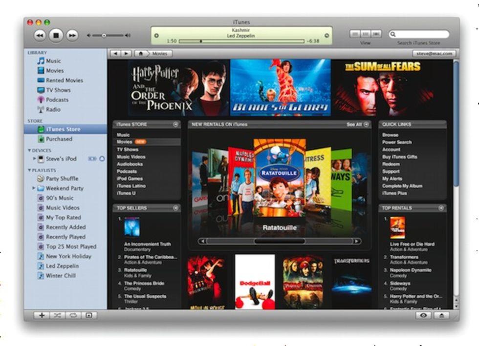 Nya versioner av iTunes, Quicktime, iMovie och Front Row