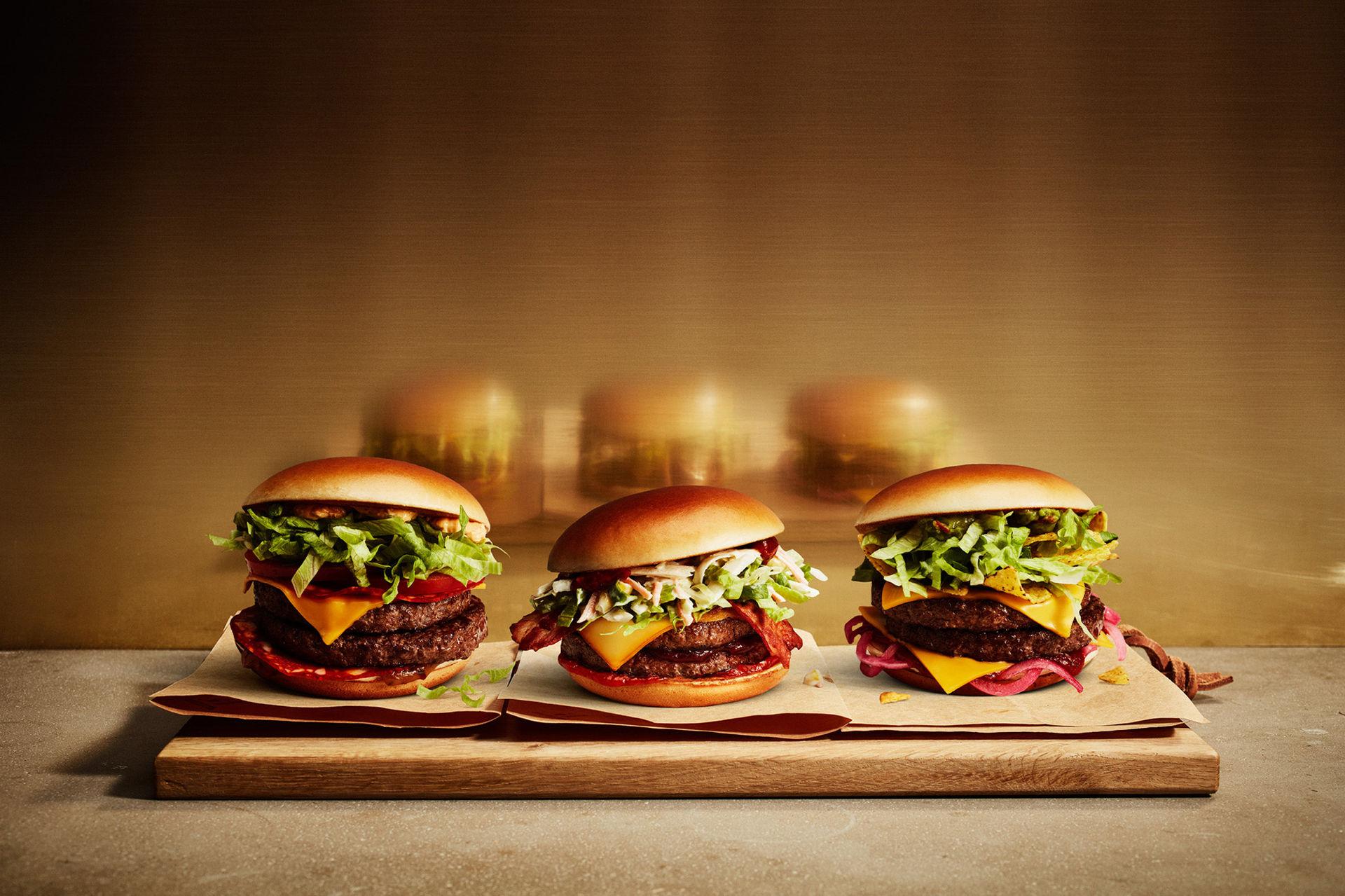 Tre nya burgare från Jureskog hos McDonald's