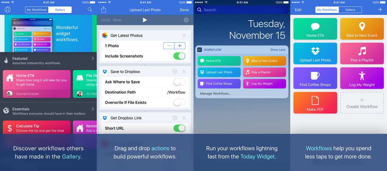 Apple har köpt Workflow
