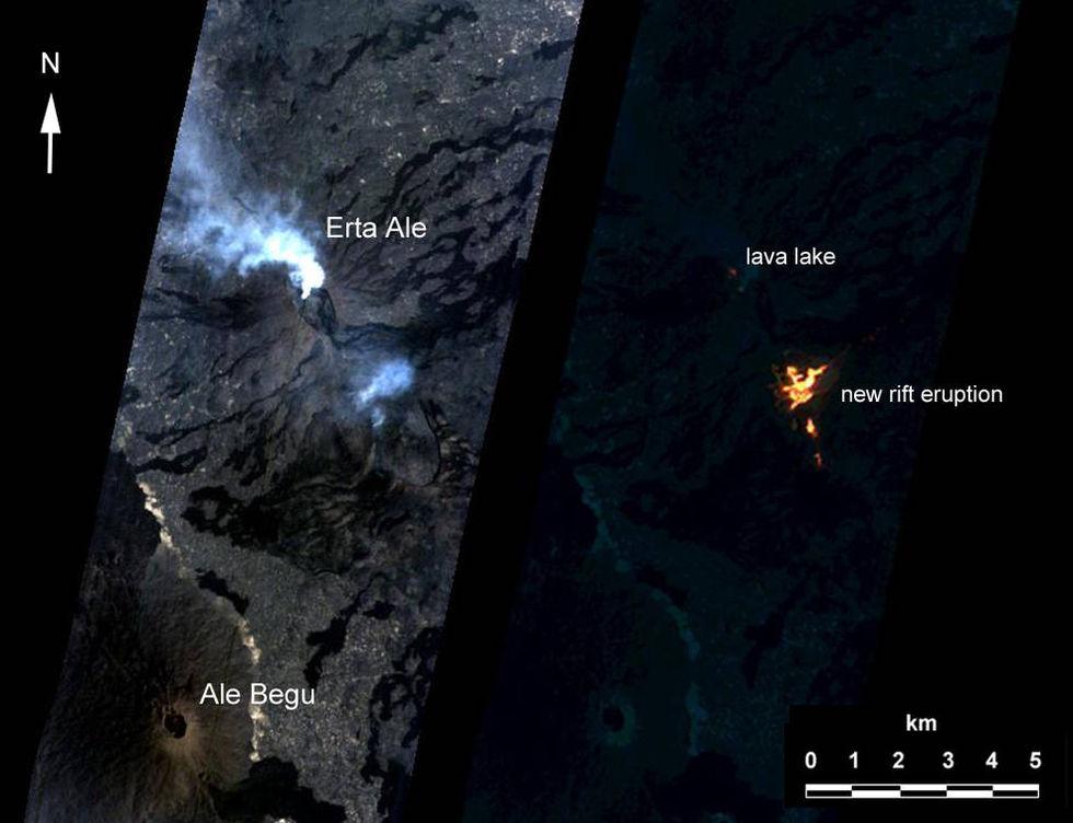 AI bestämde att en NASA-satellit skulle fotografera en vulkan