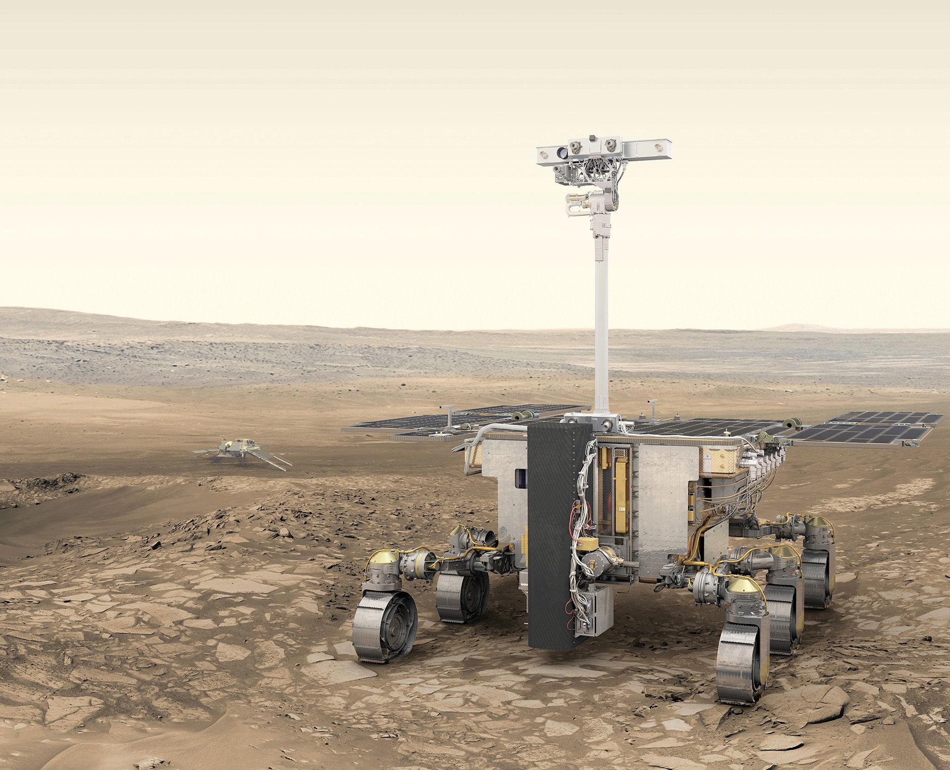 ESA visar upp nya renderingar på ExoMars-farkost