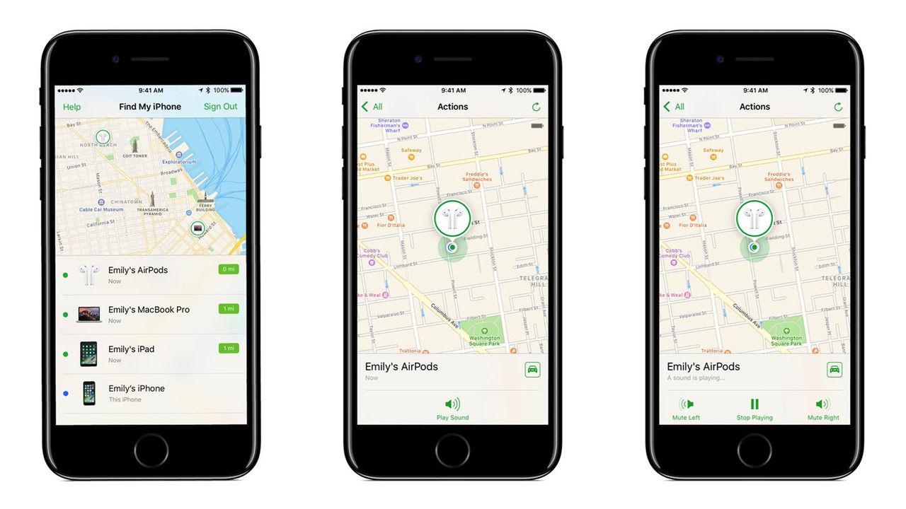 Hitta dina AirPods med iOS 10.3
