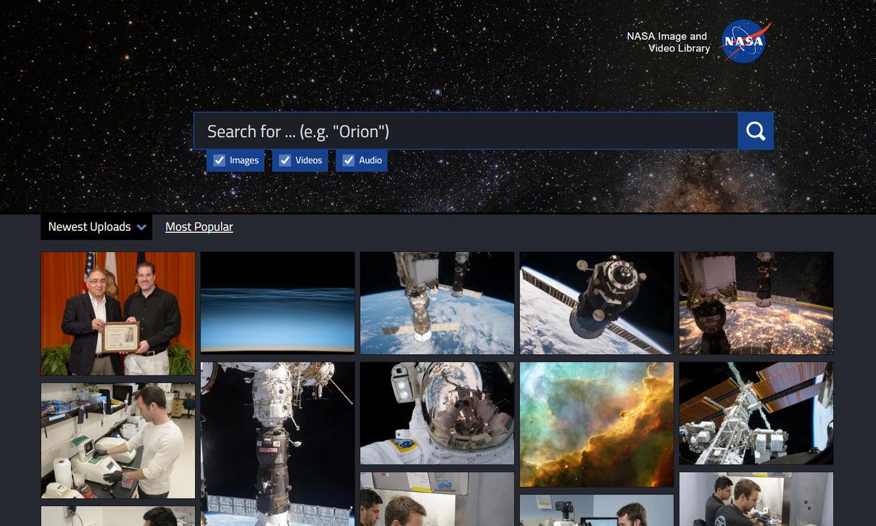 NASA släpper sökbart arkiv med bilder och filmer
