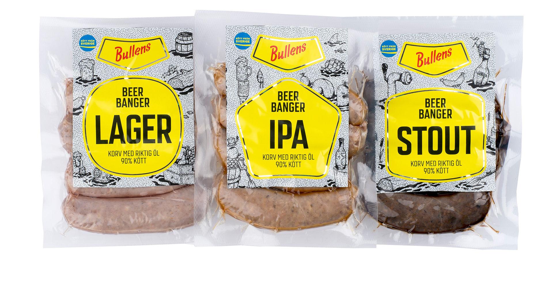 Bullens lanserar korv med öl