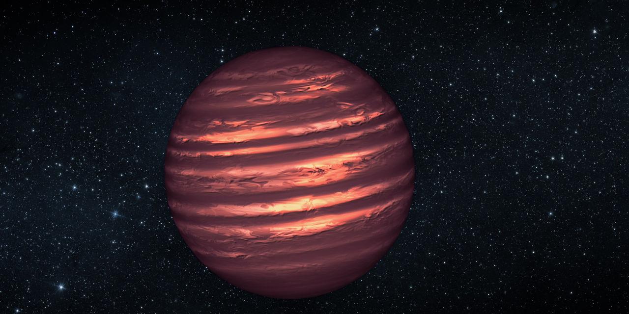 Nypptäckt brun dvärg består nästan endast av väte och helium