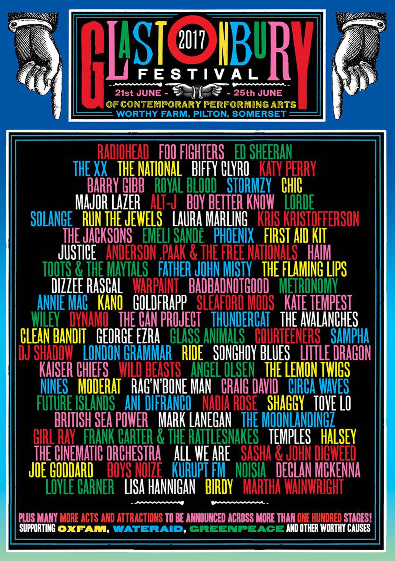 Dessa artister spelar på Glastonburyfestivalen