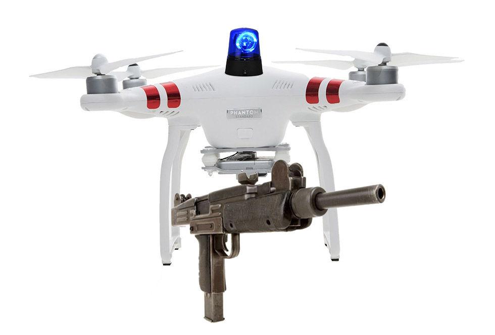 Snart kan polisen i USA beväpna sina drönare