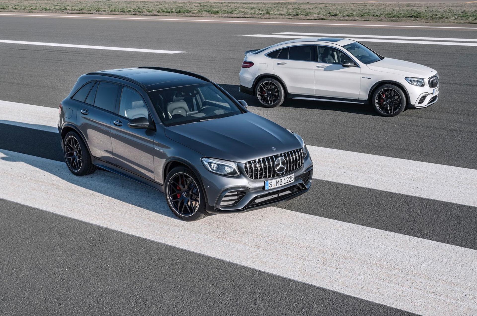 Mercedes har tryckt ner V8:a i GLC