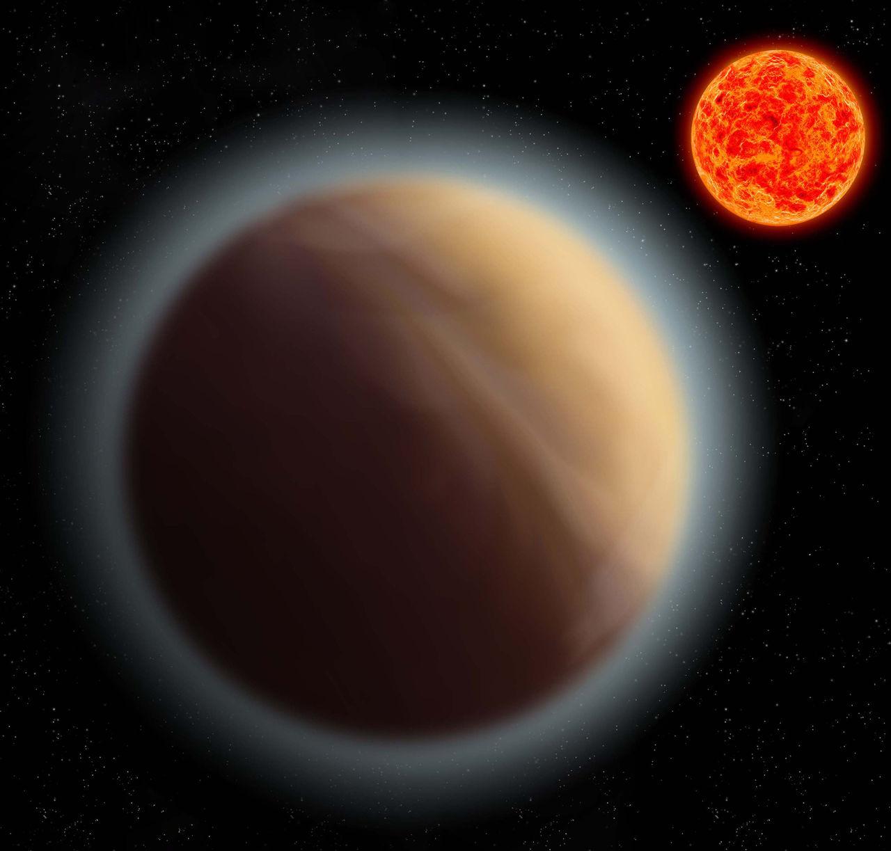 Forskare har hittat atmosfär runt en exoplanet