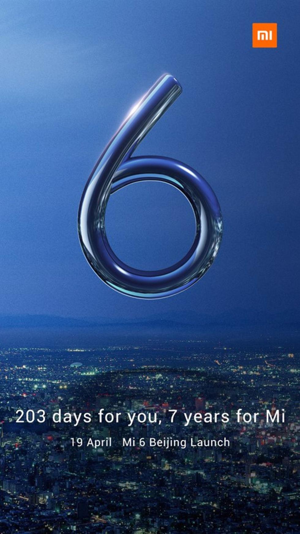 Xiaomi väntas visa upp Mi6 19 april