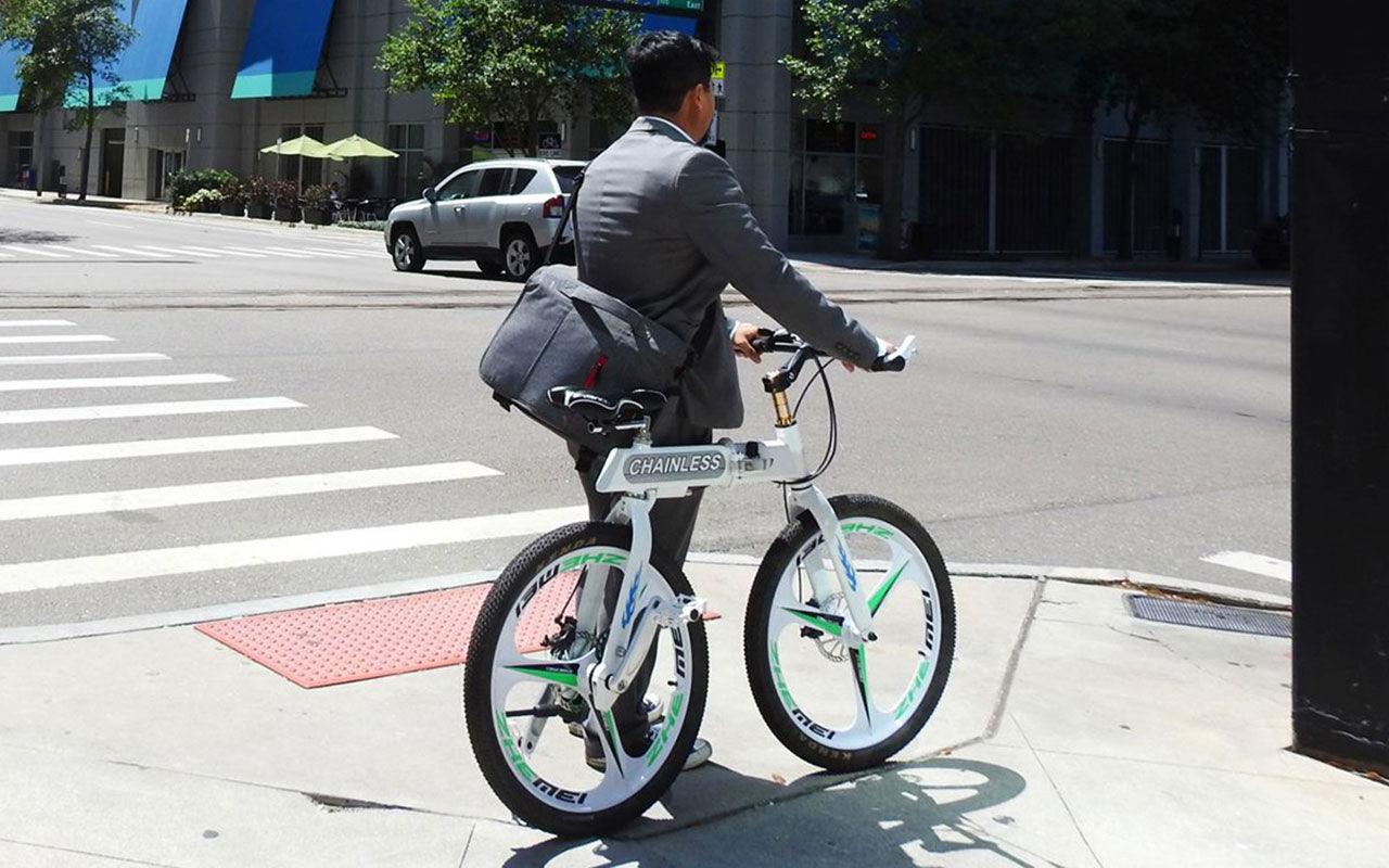 Cykel utan cykelkedja
