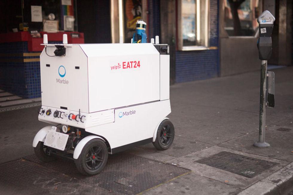 Kolla in när roboten Marble levererar mat i San Francisco