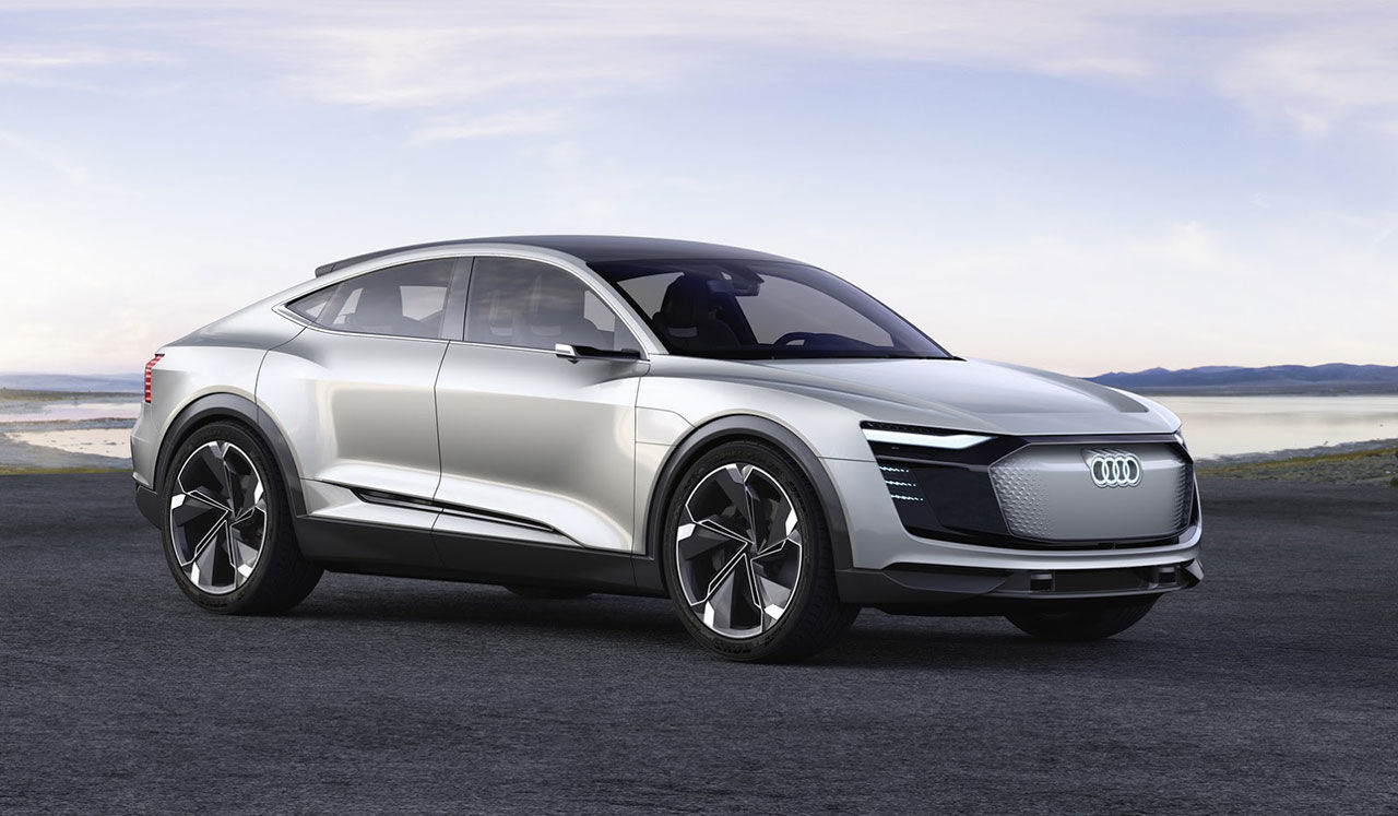 Audi visar eldrivna e-tron Sportback concept