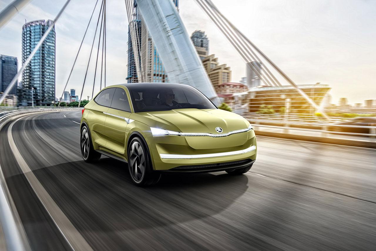 Nu är Skodas eldrivna konceptbil Vision E officiell