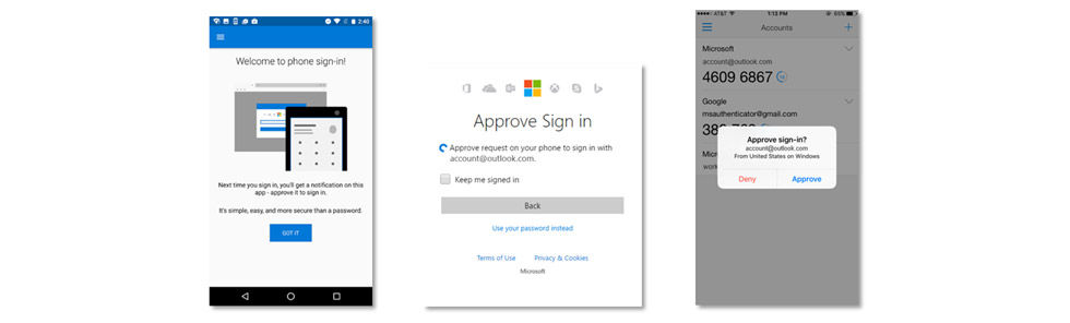 Logga in med telefonen på ditt Microsoft-konto
