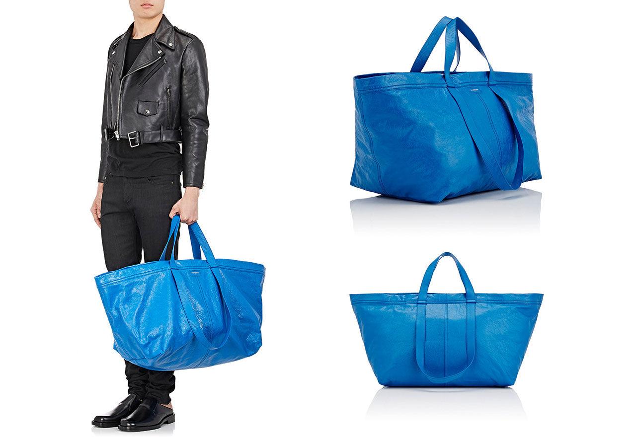 Nu kan du köpa Balenciagas Ikea-inspirerade väska
