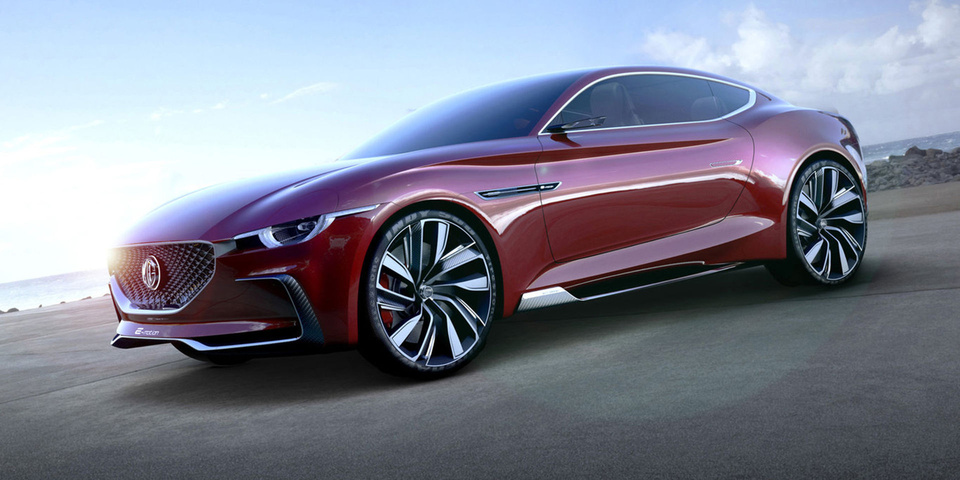 MG visar den eldrivna konceptbilen E-Motion