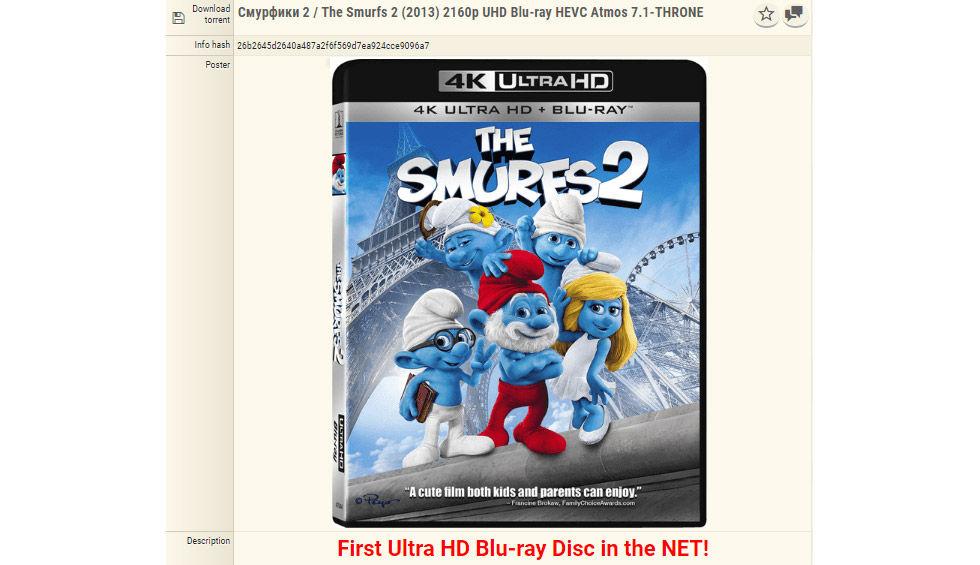 Första UltraHD BluRay-skivan läckt på piratsajt