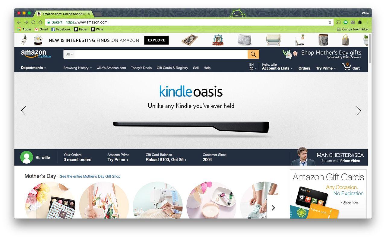 Amazon störst på e-handel i Sverige