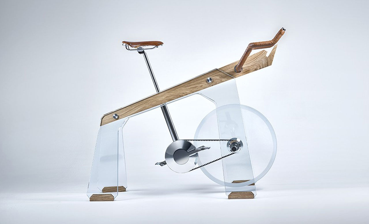 En träningscykel med lite annorlunda utseende