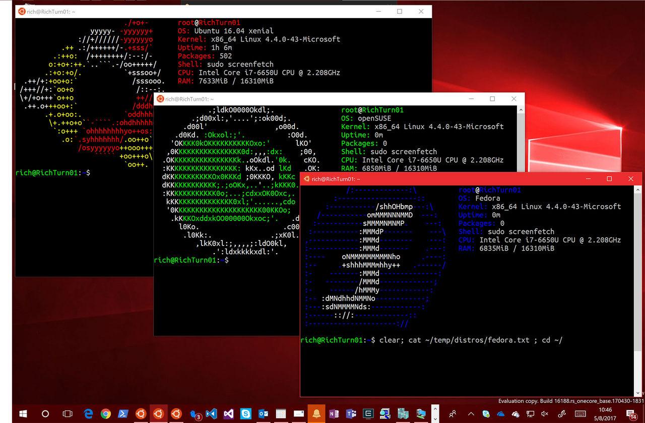 Tre smaker av Linux i Windows Store