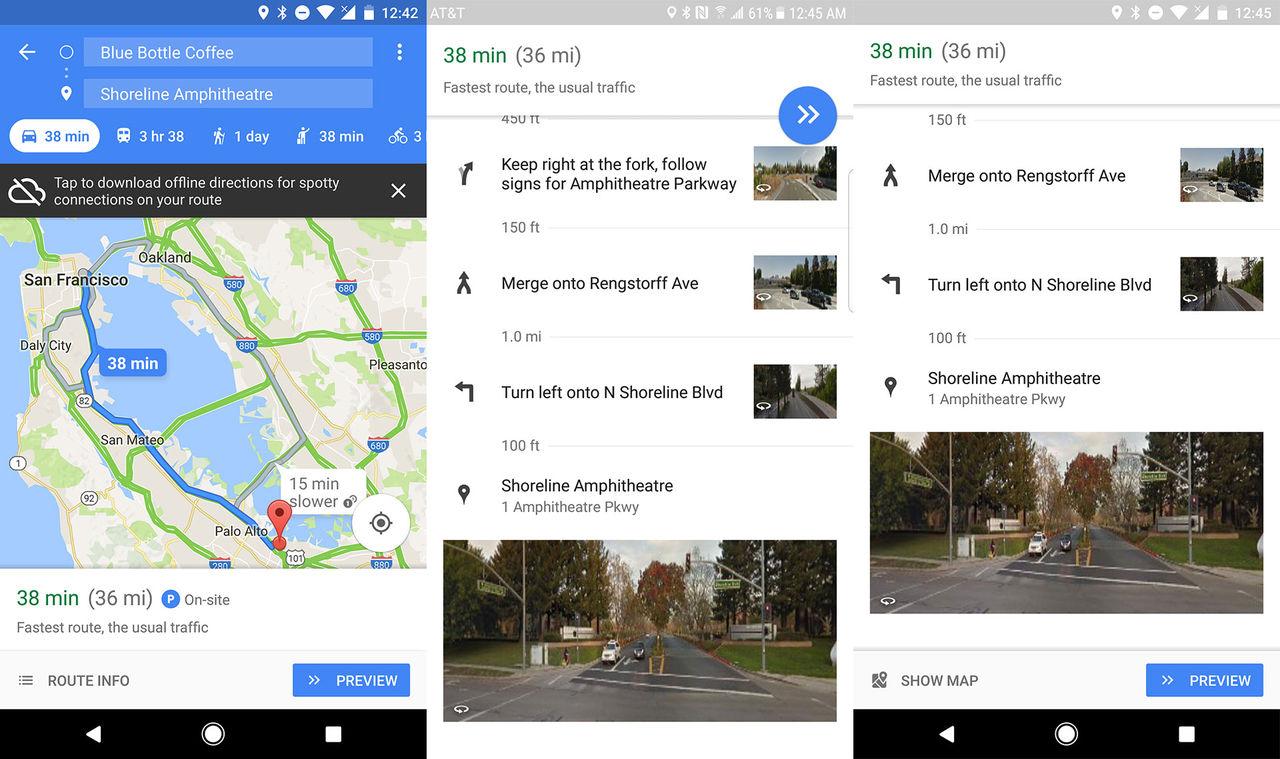 Google Maps börjar använda Street View-bilder för navigering