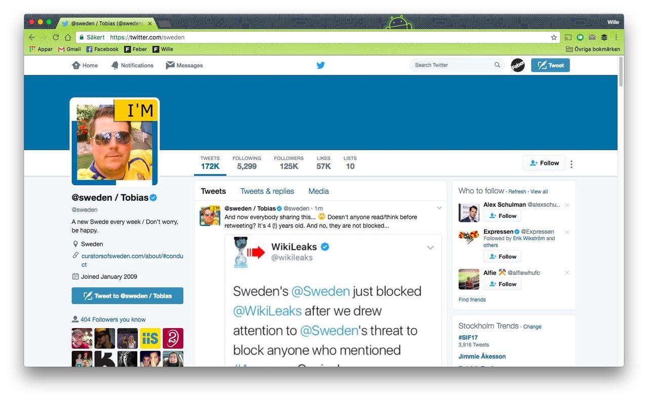 Svenska Institutet JO-anmälda för blockering av twittrare